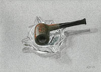 Pipe (as it IS!). Pastel drawing 1983.